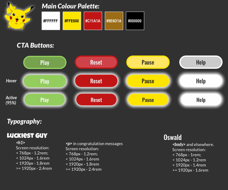 Design Guide Pokémon Match V2